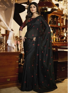 Shilpa Shetty Embroidered Work Classic Saree