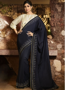 Shilpa Shetty Embroidered Work Traditional Saree
