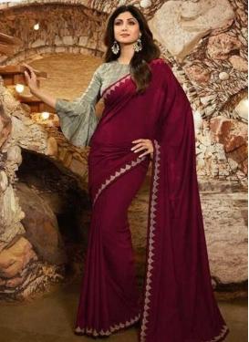 Shilpa Shetty Lace Work Designer Contemporary Style Saree