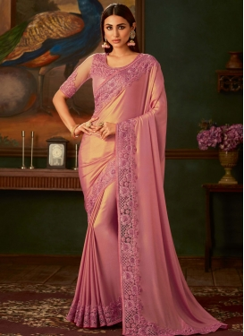 Shimmer Georgette Designer Traditional Saree For Ceremonial