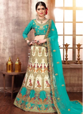 Silk A Line Lehenga Choli For Bridal
