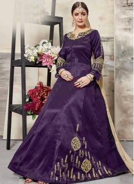 Silk Booti Work Anarkali Salwar Kameez