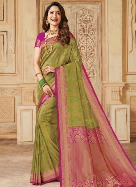 Silk Contemporary Style Saree For Party
