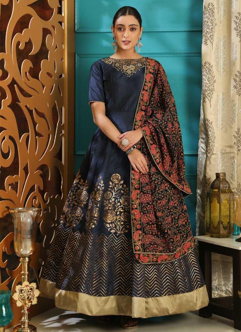 Silk Cutdana Work Readymade Classic Gown
