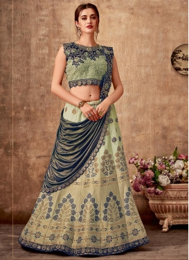 Silk Designer Lehenga Style Saree For Bridal
