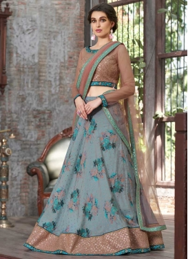 Silk Digital Print Work Lehenga Choli