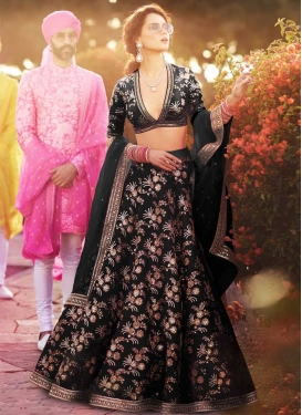 Silk Embroidered Work Designer A Line Lehenga Choli
