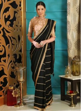 Silk Embroidered Work Designer Contemporary Style Saree