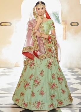 Silk Embroidered Work Lehenga Choli