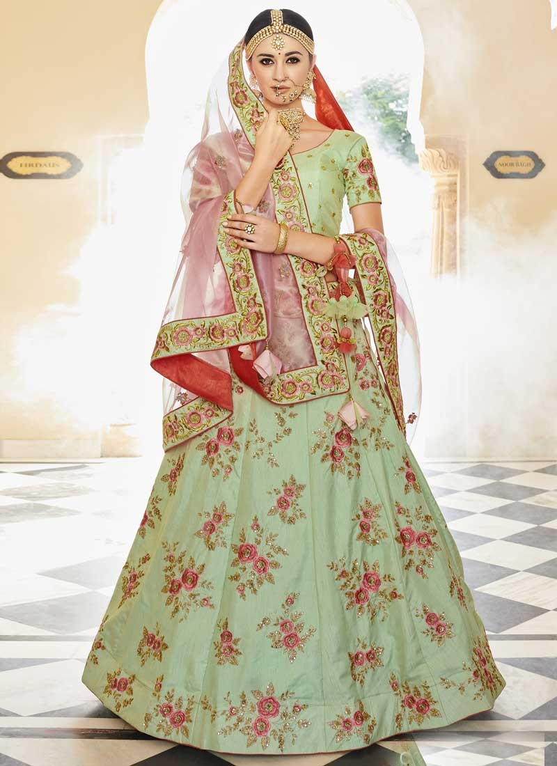 Silk Embroidered Work Lehenga Choli