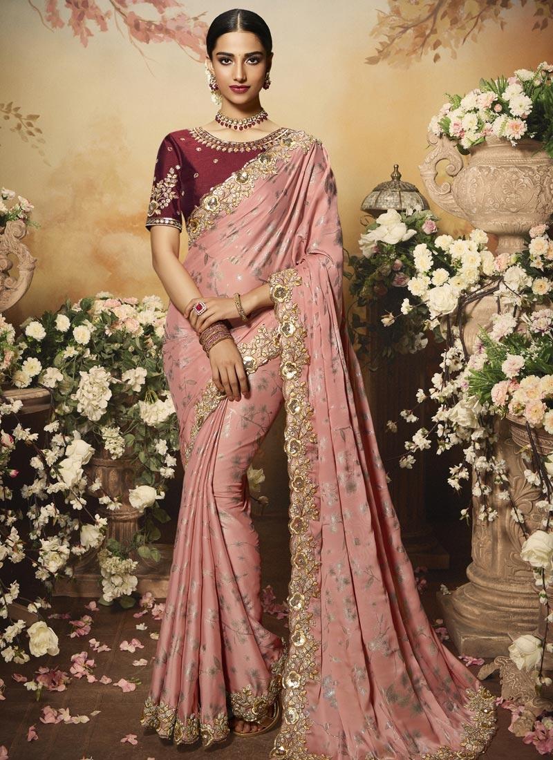Silk Georgette Contemporary Style Saree