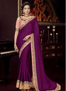 Silk Georgette Designer Contemporary Saree For Festival