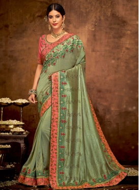 Silk Georgette Designer Traditional Saree For Party