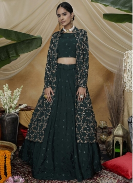 Silk Georgette Jacket Style Lehenga Choli