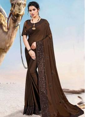 Silk Georgette Trendy Classic Saree For Ceremonial