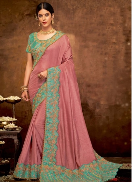 Silk Georgette Trendy Saree For Festival