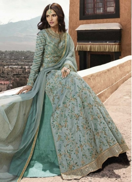 Silk Kameez Style Lehenga For Party