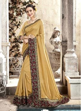 Silk Resham And Embroidered Classic Saree