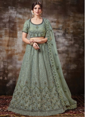 Silk Trendy A Line Lehenga Choli For Bridal