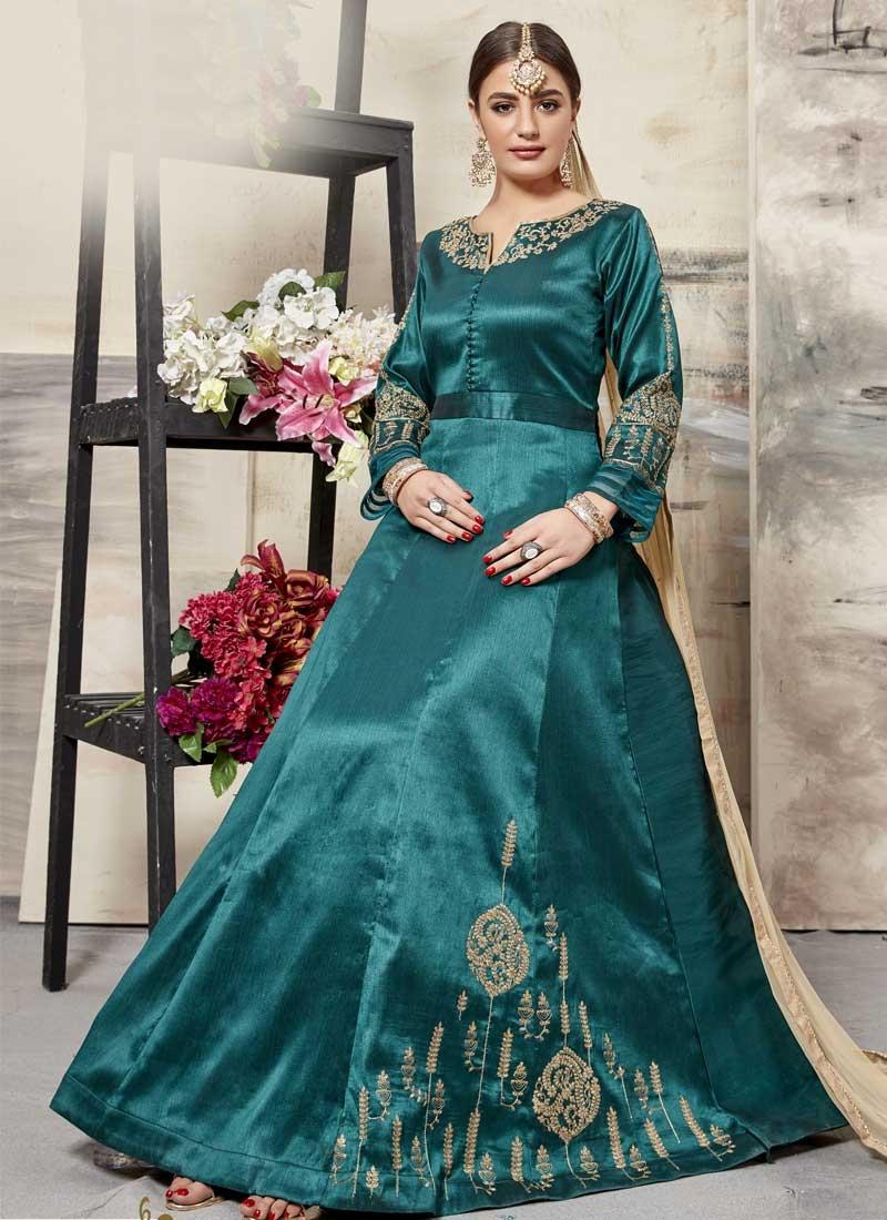 Silk Trendy Anarkali Salwar Kameez