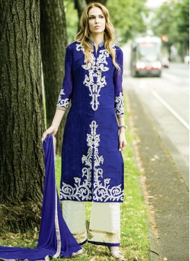 Simplistic Reaham Work Palazzo Style Party Wear Suit
