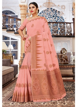 Sophisticated Cotton Silk Weaving Traditional Saree