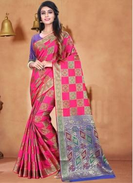 Sorcerous Art Silk Ceremonial Designer Traditional Saree
