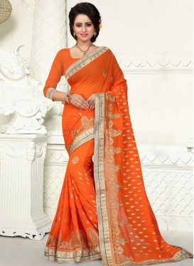Sparkling Lace Work Party Wear Saree