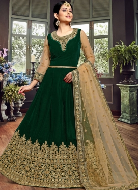 Specialised Floor Length Anarkali Suit For Festival