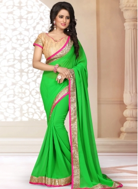 Specialised Green Color Casual Saree