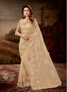 Spellbinding Embroidered Net Designer Saree