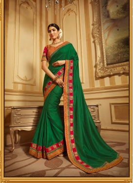 Spellbinding Green Art Silk Traditional Saree