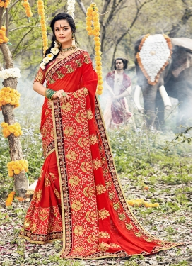 Sterling Embroidered Mehndi Classic Saree