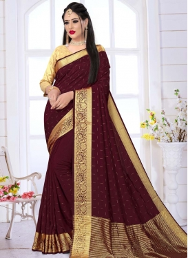 Stone Work Art Silk Designer Contemporary Saree