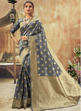 Stone Work Contemporary Style Saree