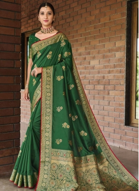 Stone Work Designer Contemporary Saree For Ceremonial