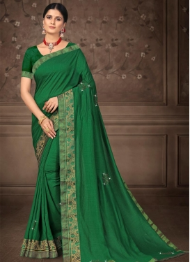 Stone Work Designer Contemporary Style Saree