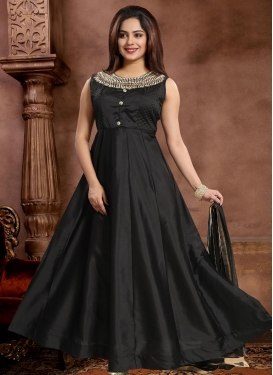Stone Work Readymade Long Length Gown