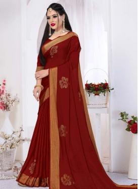 Stone Work Satin Silk Designer Traditional Saree