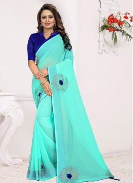 Stone Work Traditional Designer Saree For Casual