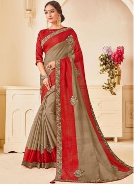Stupendous Poly Silk Ceremonial Traditional Designer Saree