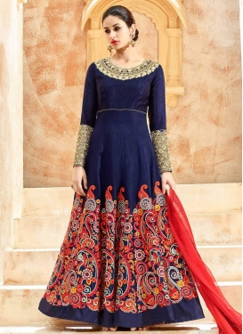 Suave Art Silk Long Length Designer Anarkali Suit