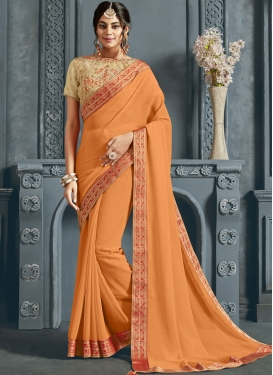 Sunshine Faux Chiffon Festival Traditional Saree