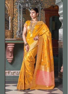 Swanky Art Silk Ceremonial Designer Traditional Saree