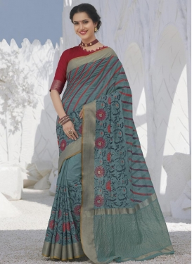 Swarovski Work Designer Contemporary Saree