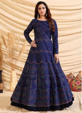 Tafeta Silk Floor Length Gown