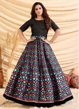 Tafeta Silk Floor Length Trendy Gown For Ceremonial