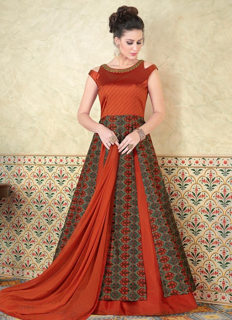 Tafeta Silk  Layered Designer Salwar Suit