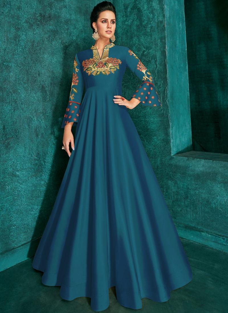 Tafeta Silk Readymade Classic Gown