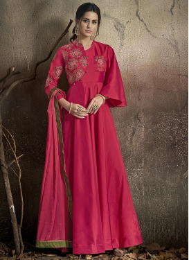 Tafeta Silk Readymade Classic Gown